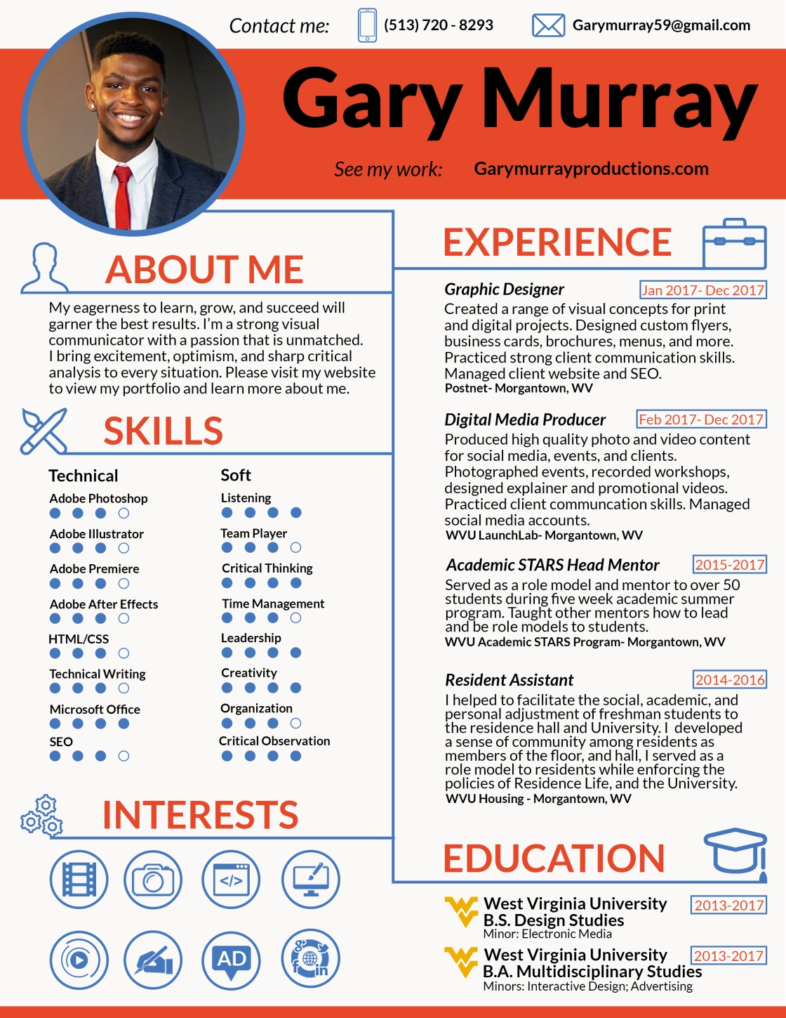 Gary Murray Design Resume pic