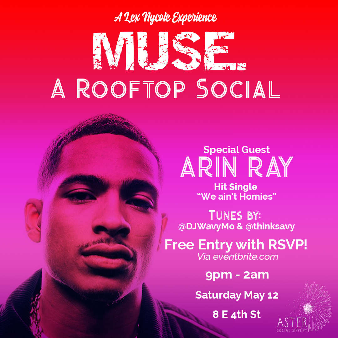 Muse, A Rooftop Social Event Flyer